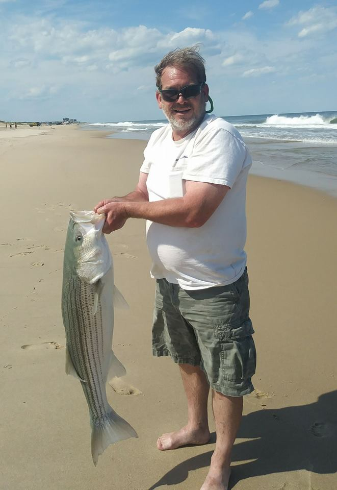 rockfish, striped bass, delaware, sussex county, linesider, bunker chunks