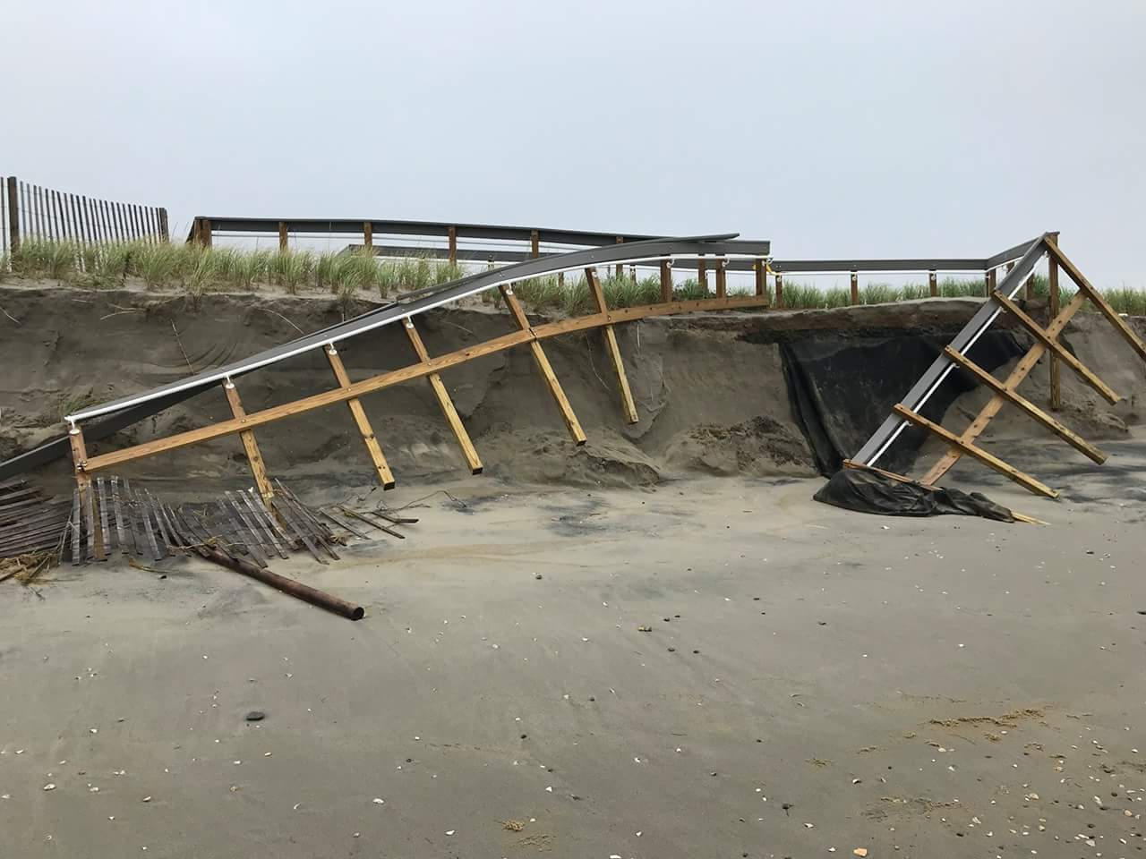 Broadkill Beach Took A Hit Delaware Surf Fishingcom