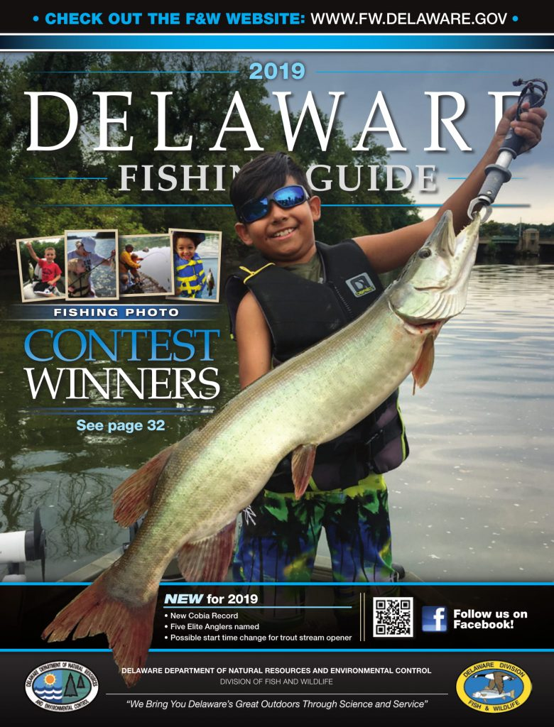 DNREC, 2019 Delaware Fishing Guide, Delaware Department of Natural Resources and Environmental Control, new castle county, kent county, sussex county, creel limits, regulations, state fishing records,