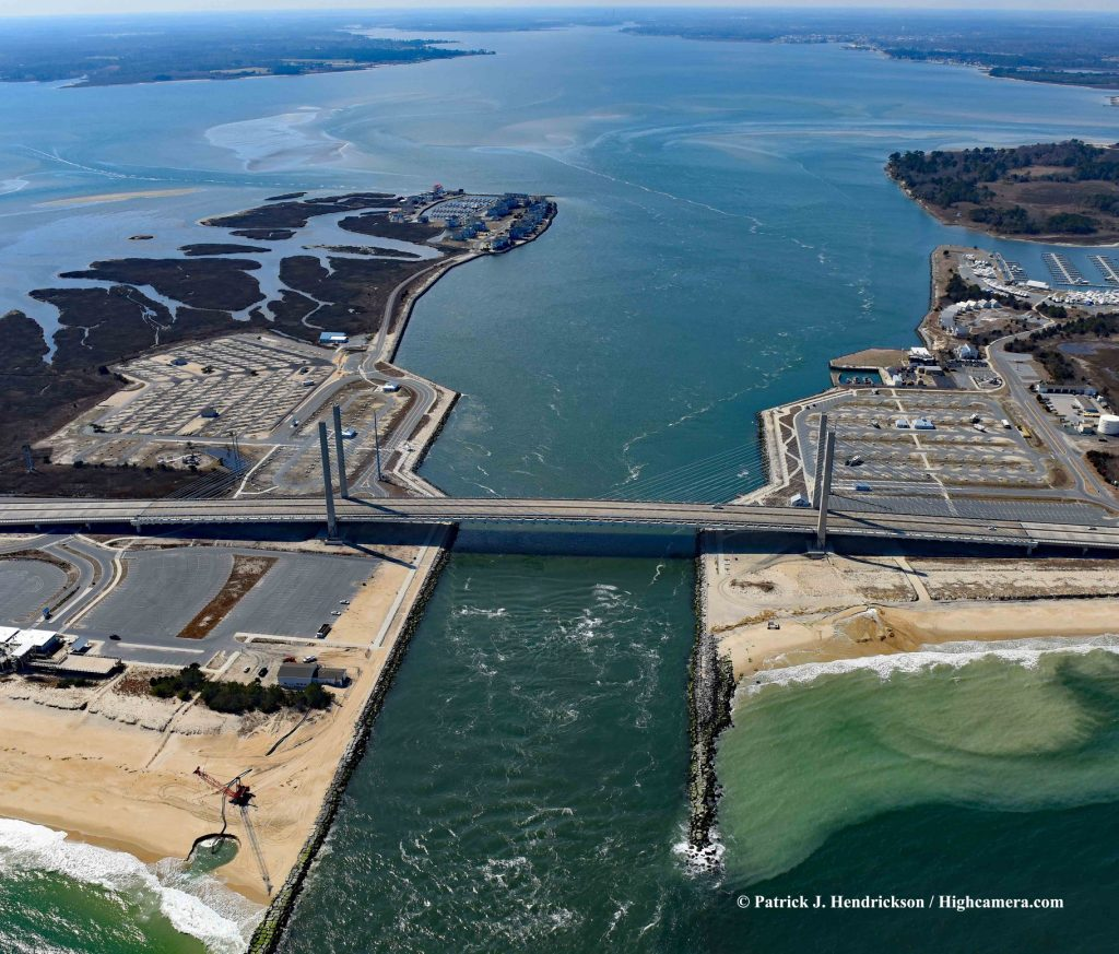 aerial photo, indian river inlet
