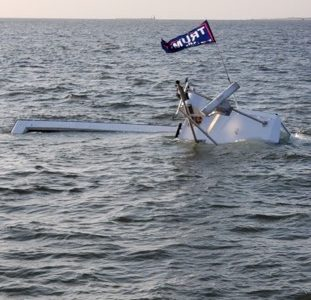 muggy lee, trump flag, maga, delaware coast, sunken boat, sean moore
